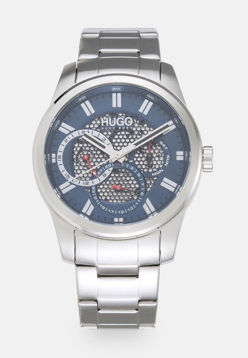 HUGO - SKELETON - Watch - silver-coloured/blue