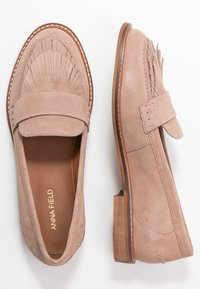Anna Field - LEATHER SLIPPERS - Slip-ons - nude - 3