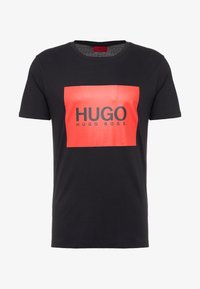 HUGO - DOLIVE - Print T-shirt - black - 4
