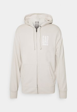 veste en sweat zippée - stone