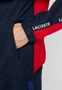 Lacoste Sport - Training jacket - navy blue/red/navy blue/white - 5