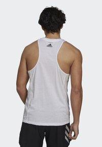 adidas Performance - RUN LOGO TANK M - Sports shirt - white - 2
