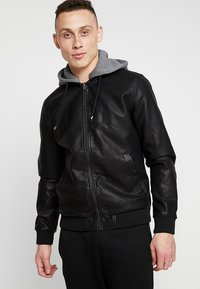 YOURTURN - Faux leather jacket - black - 0