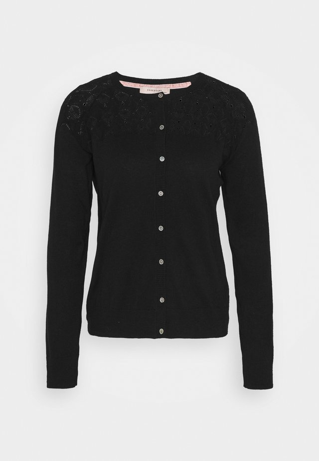 BASIC - Strikjakke /Cardigans - black
