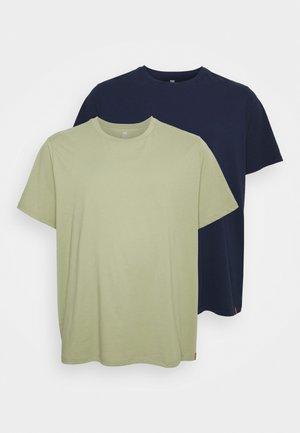 B&T TEE 2 PACK - Basic T-shirt - tea/peacoat