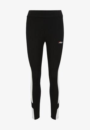 Leggings - Trousers - black bright white