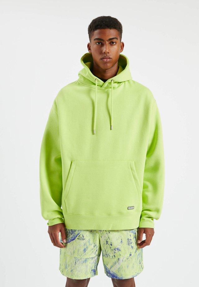 Felpa con cappuccio - light green