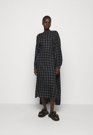 BAT WING DRESS WITH BIB FRONT - Day dress - black/white