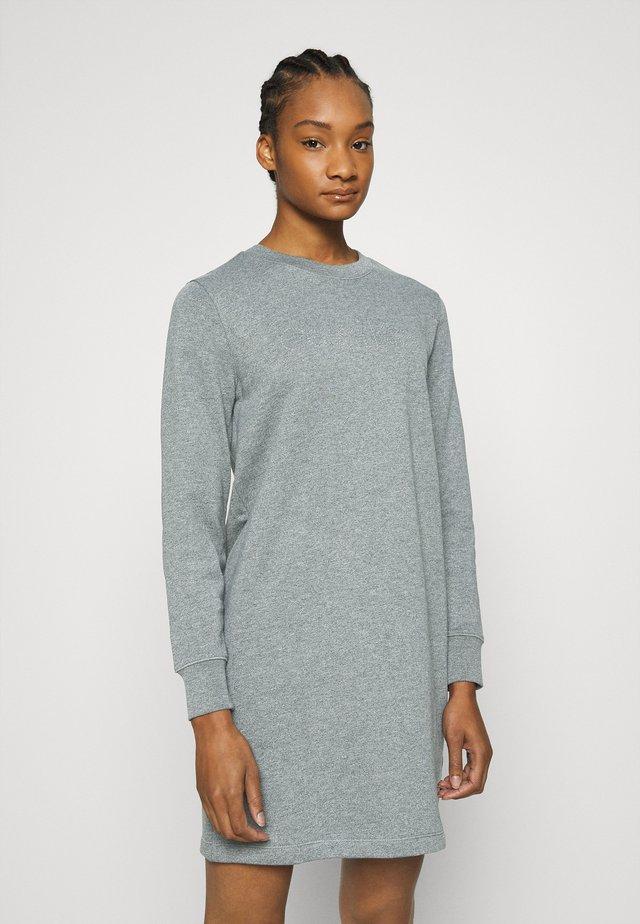 STUD LOGO DRESS - Day dress - mid grey heather