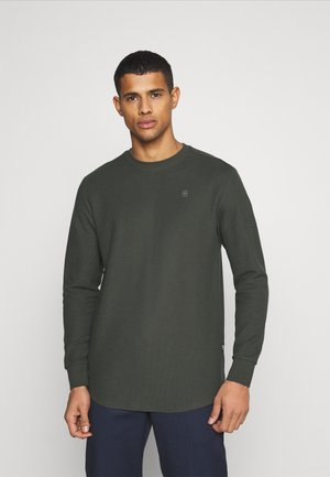 LASH  - Long sleeved top - honeycomb jersey io - asfalt