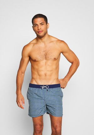 JJIARUBA GEOMETRIC - Swimming shorts - medieval blue