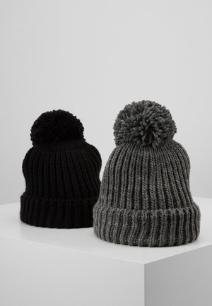 2 PACK - Czapka - grey/black