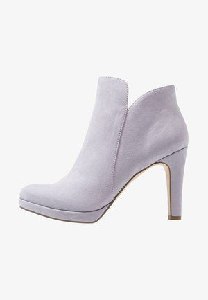 High heeled ankle boots - lavender