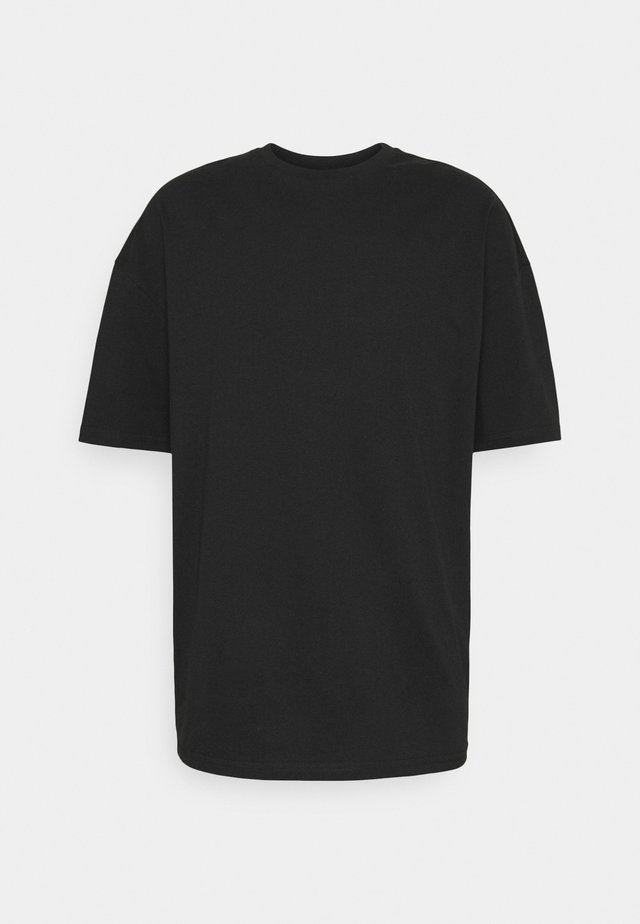 SILENCE WAVES UNISEX - T-shirts med print - black