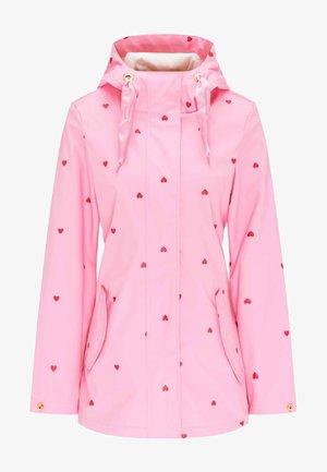 MIT SÜSSEM HERZCHEN-PRINT - Waterproof jacket - rose