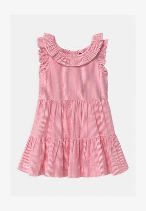 Sukienka koszulowa - pink/white