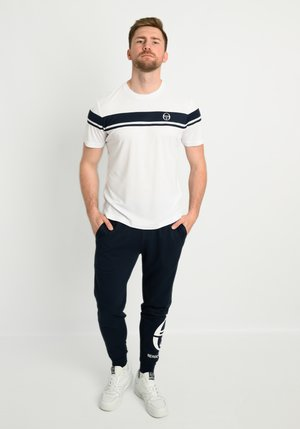 YOUNG LINE PRO  - Print T-shirt - white/navy