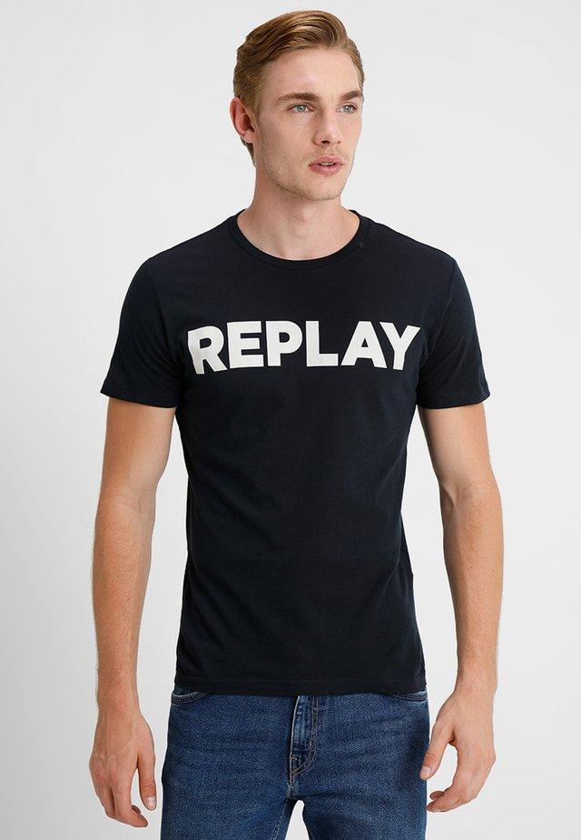 Print T-shirt - midnight blue