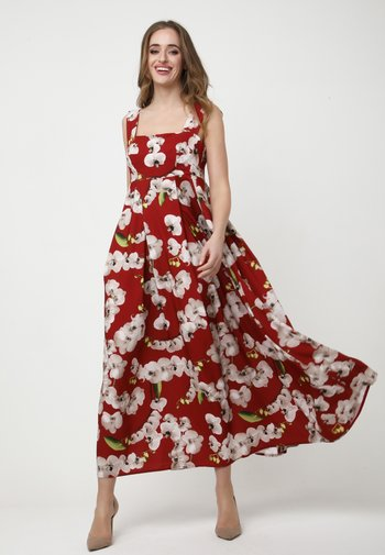 TOSCANA - Maxi dress - rot, hellbraun