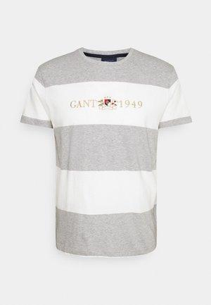 FLAG CREST - T-shirt med print - grey melange