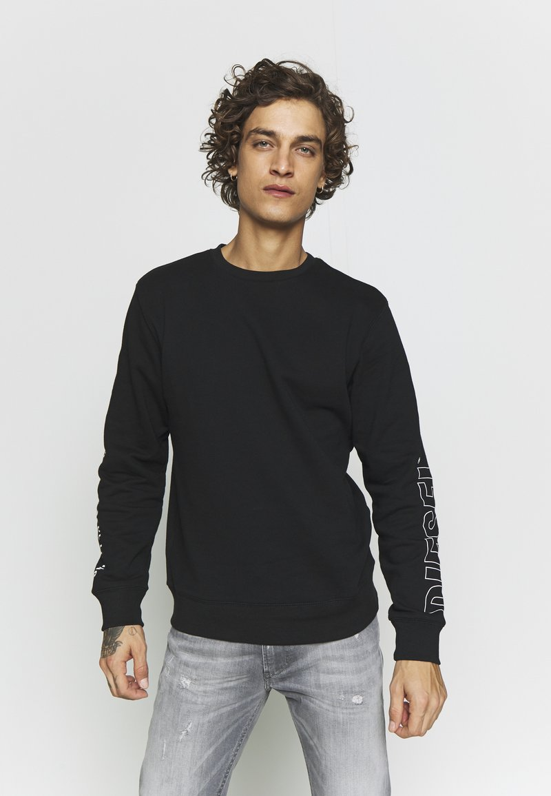 Diesel - UMLT-WILLY SWEAT-SHIRT - Sweatshirt - black