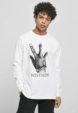 WESTSIDE CONNECTION LONGSLEEVE - Printtipaita - white