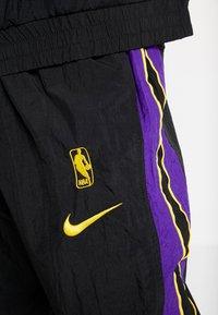 Nike Performance - NBA LA LAKERS RETRO TRACKSUIT - Pelipaita - black/field purple - 7