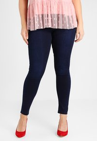 CAPSULE by Simply Be - LUCY HIGH WAIST SUPER SOFT - Jeans Skinny Fit - dark indigo - 0