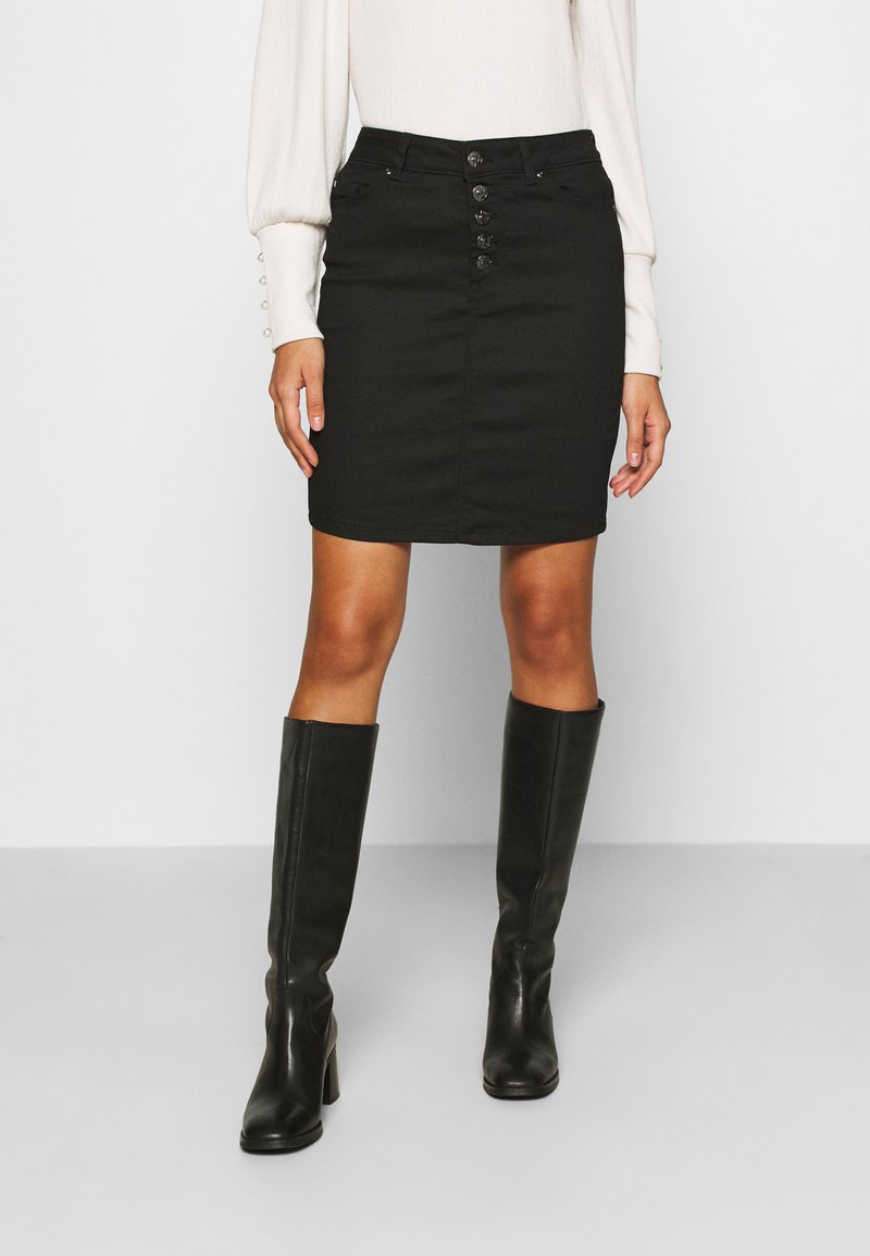 ONLY - ONLBLUSH LIFE SKIRT - Falda de tubo - black