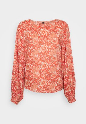 YASDAMASK O NECK  - Blouse - whisper pink/damask