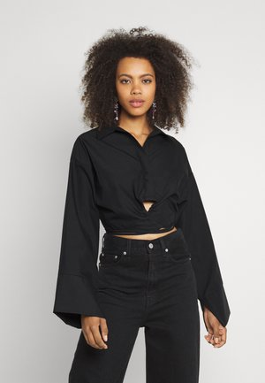 ENYA - Button-down blouse - black