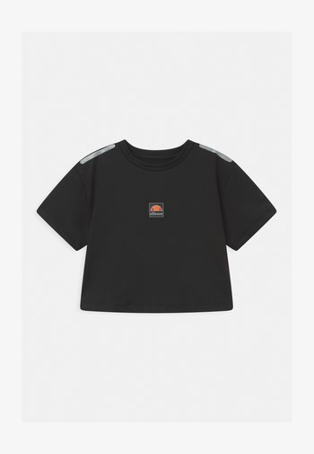 ASALI CROPPED UNISEX - Print T-shirt - black