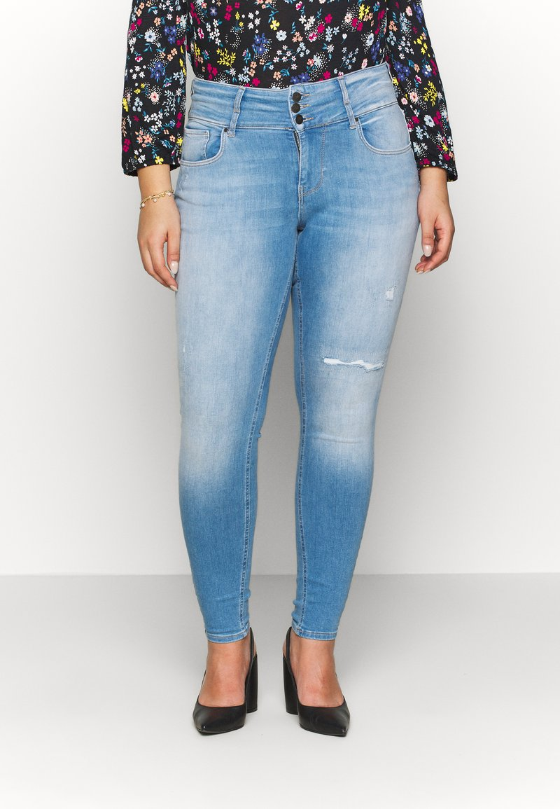 ONLY Carmakoma - CARANNABEL - Jeans Skinny Fit - medium blue denim