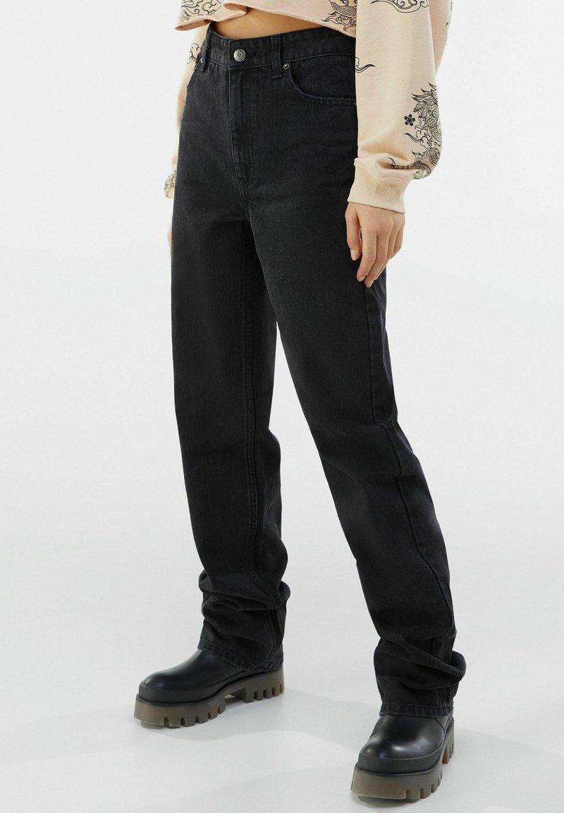 Bershka - Jeans straight leg - black