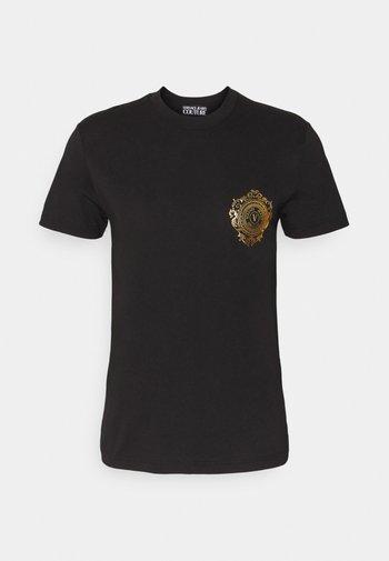 Print T-shirt - black / gold