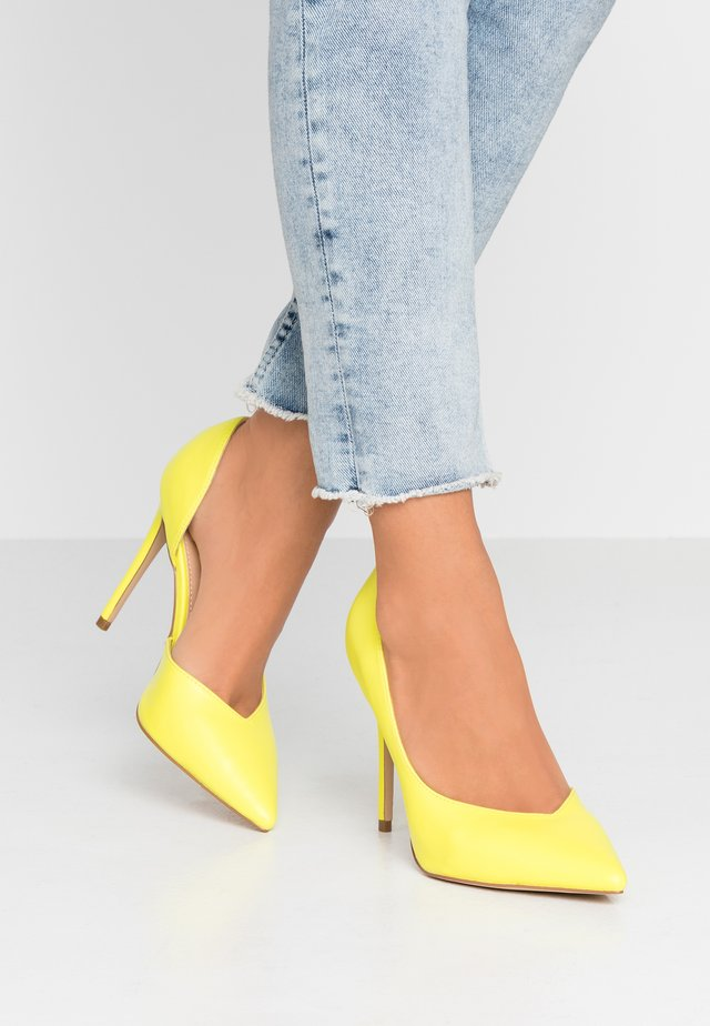 HEIGHTON  - High heels - yellow neon
