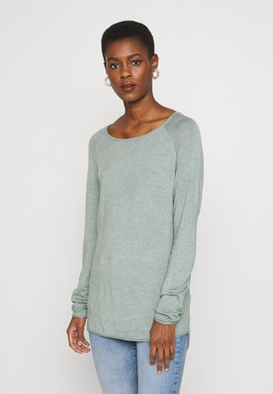 ONLMILA LONG - Jumper - chinois green/white melange