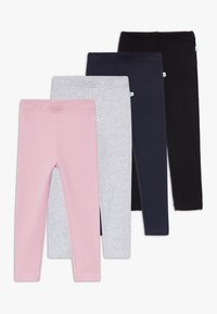 Blue Seven - KIDS WARM BASIC 4 PACK - Legging - mauve/nachtblau/nebel/schwarz - 0