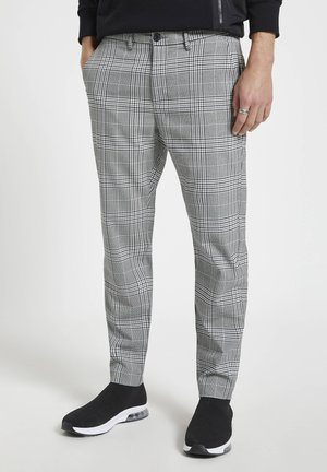 Trousers - mottled dark grey