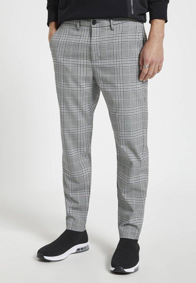 Kalhoty - mottled dark grey