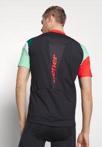 Ziener - NEPUMUK - Print T-shirt - black/fresh mint - 3