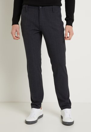 SLHSLIM STORM FLEX SMART PANTS - Trousers - dark sapphire/check