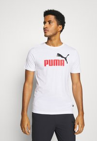 Puma - LOGO TEE - Print T-shirt - white - 0