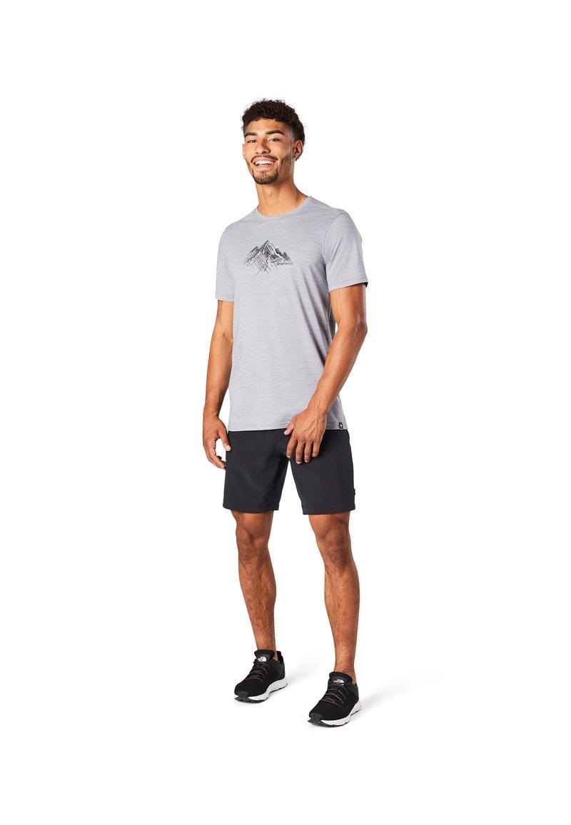 Smartwool - T-shirt print - light gray heather