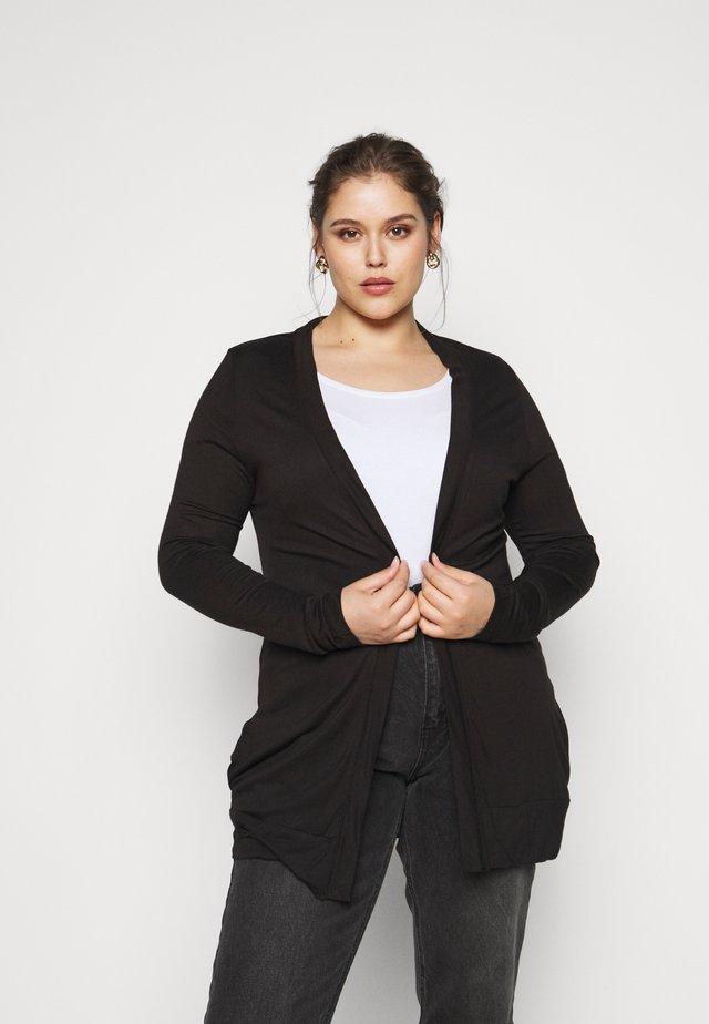 BOYFRIEND CARDIGAN - Vest - black