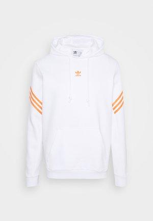 SWAROVSKI HOODIE UNISEX - Hættetrøjer - white/trace orange
