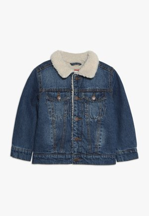JESSIE SHERPA JACKET - Denim jacket - mid blue wash