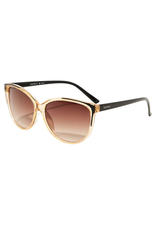 SONNENBRILLE MIT TRANSPARENTEM RAHMEN - Sunglasses - brown