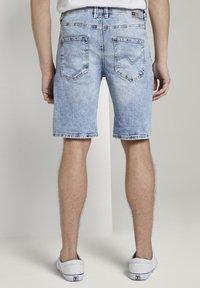 TOM TAILOR DENIM - Denim shorts - used bleached blue denim - 2