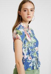 Rolla's - ELLA ROSE GARDEN BLOUSE - Button-down blouse - blue - 3